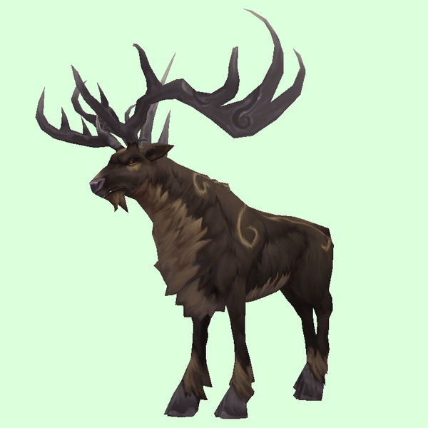 Patterned Dark Brown Stag