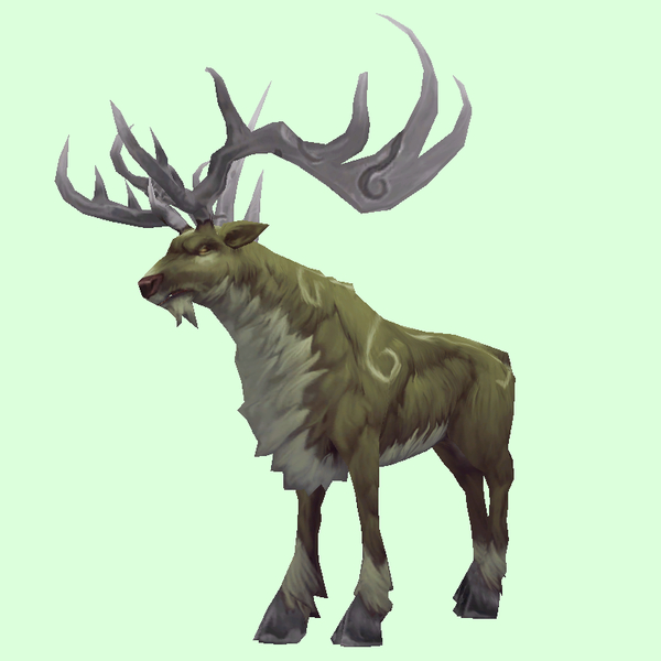 Patterned Green-Brown Stag