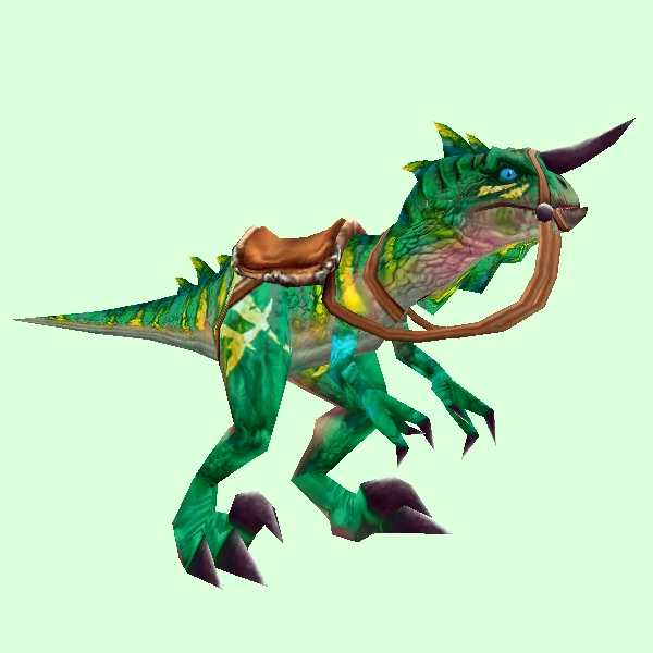 Saddled Green Raptor