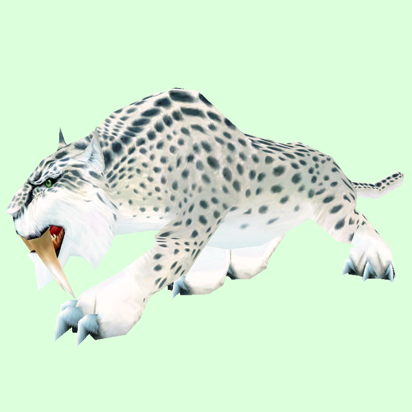 Spotted White Saber Cat