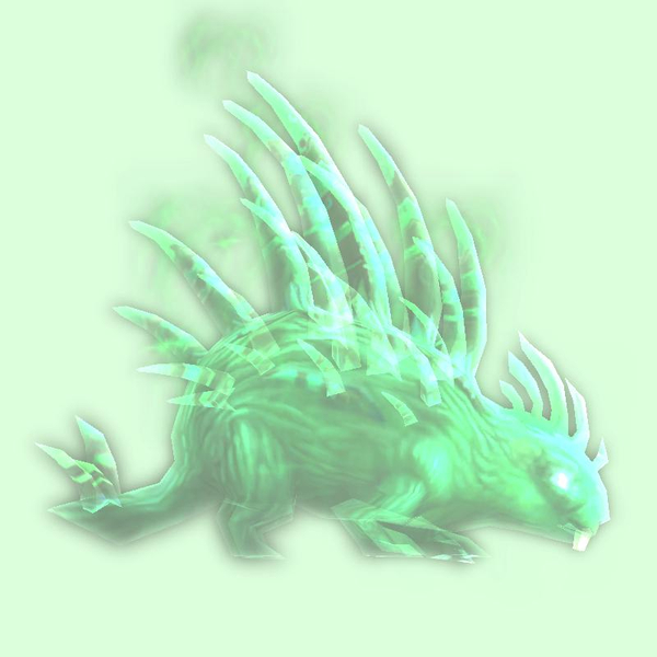 Green Spectral Porcupine