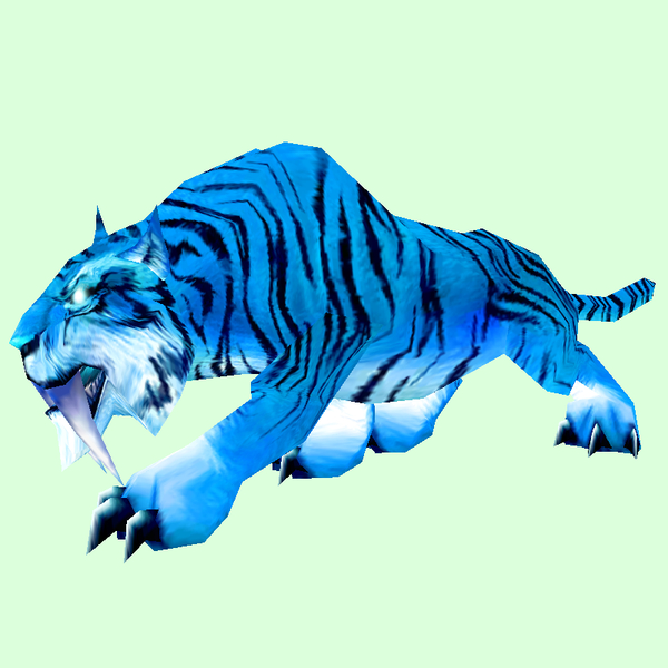 Glowing Blue Saber Cat