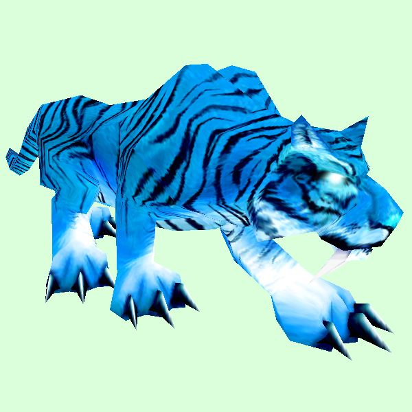 Glowing Blue Cat