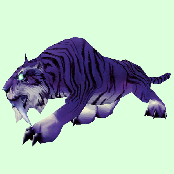 Glowing Purple Saber Cat