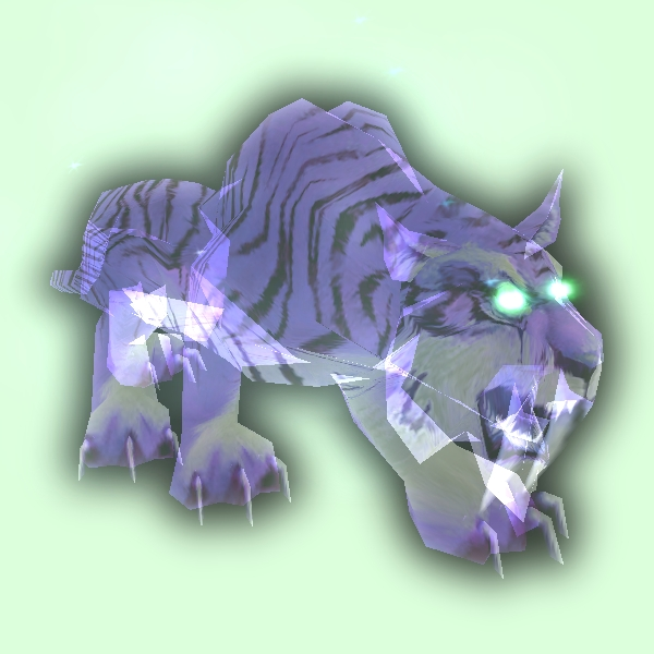 Spectral Saber Tiger Pet Look Petopia Hunter Pets In The World Of Warcraft