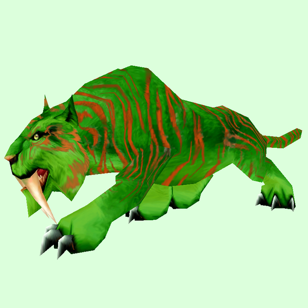 Orange-Striped Green Saber Cat