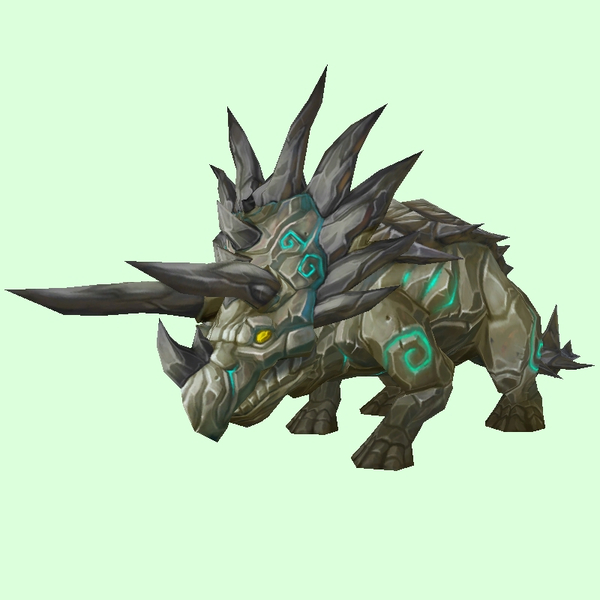 Yellow-Grey Stone Direhorn