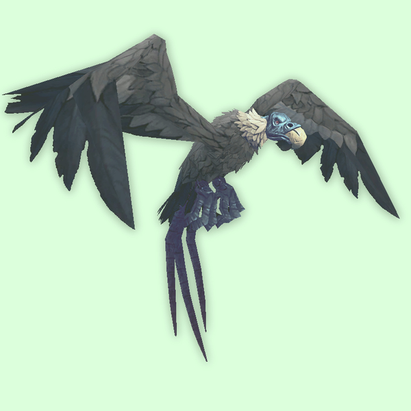 Ghostly Blue-Grey Vulture