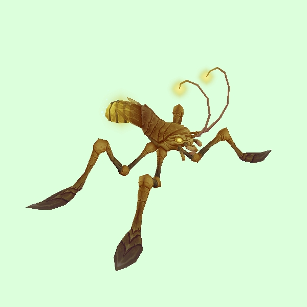 Plated Yellow Water Strider