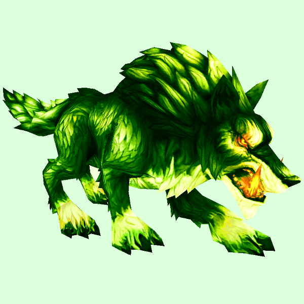 Fel Green Maned Wolf