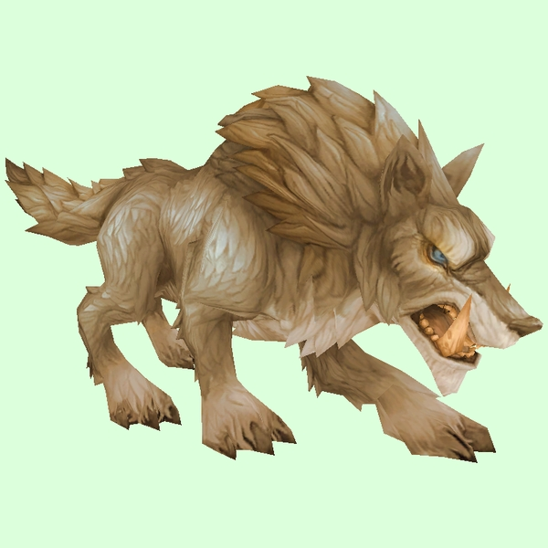 Light Brown Draenor Wolf