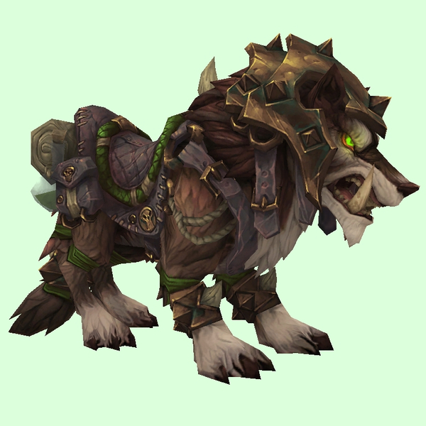 Armored Brown Draenor Wolf