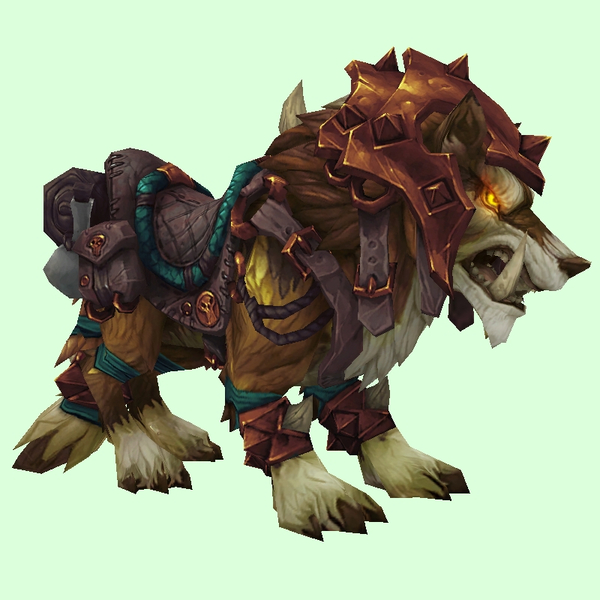 Armored Yellow-Brown Draenor Wolf
