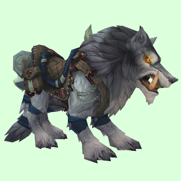 Saddled Silver Draenor Wolf