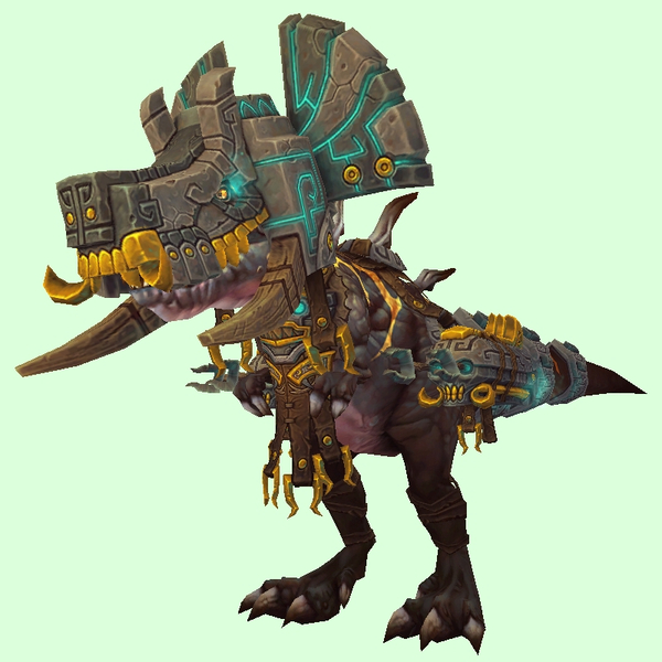 Black Devilsaur w/ Grey & Gold Armour