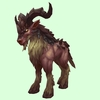 Red-Brown Rugged Talbuk w/ Sideward Horns