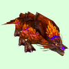 Orange-Purple Basilisk w/ Orange Crest