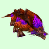 Orange-Purple Basilisk w/ Purple Crest