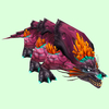 Purple Basilisk w/ Orange Crest