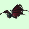 Green Bat w/ Dark Red Wings