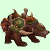 Tan Bear w/ Green Amani Armour