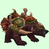 Sickly Tan Bear w/ Green Amani Armour