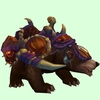 Dark Brown Bear w/ Purple Amani Armour