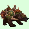 Sickly Dark Brown Bear w/ Green Amani Armour