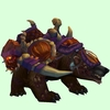 Sickly Dark Brown Bear w/ Purple Amani Armour