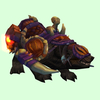 Black Bear Mount w/Purple-Orange Armour