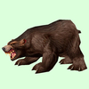 Dark Brown Bear
