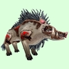 Armored Grey Boar