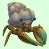 Bronze Hermit Crab w/ Sandy Shell