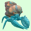 Diamond Hermit Crab w/ Orange & Blue Shell