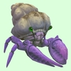 Purple Hermit Crab w/ Sandy Shell