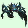 Dark Blue-Green Spiked Crab