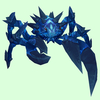 Cobalt Blue Spiked Crab w/ Blue Markings