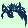 Sooty Dark Blue Spiked Crab
