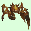 Gold-Tinged Dark Orange Spiked Crab
