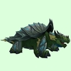 Grey & Dark Green Spiked Dragon Turtle w/ Glow