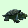 Grey & Dark Green Dragon Turtle w/ Glow