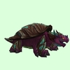 Brown & Magenta Dragon Turtle w/ Glow