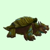 Olive Dragon Turtle w/ Glow