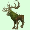 Green Wicker Stag