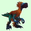 Orange & Turquoise Falcosaur