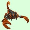 Orange Armored Scorpion