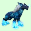 Blue Runed Darkhound w/ Brighter Flames