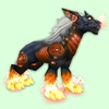 Red Runed Darkhound w/ Pink Flames