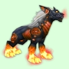 Red Runed Darkhound w/ Red Flames