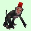 Black Monkey with Fez